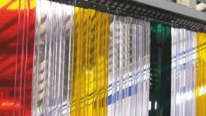Renkli PVC Şerit Perde
